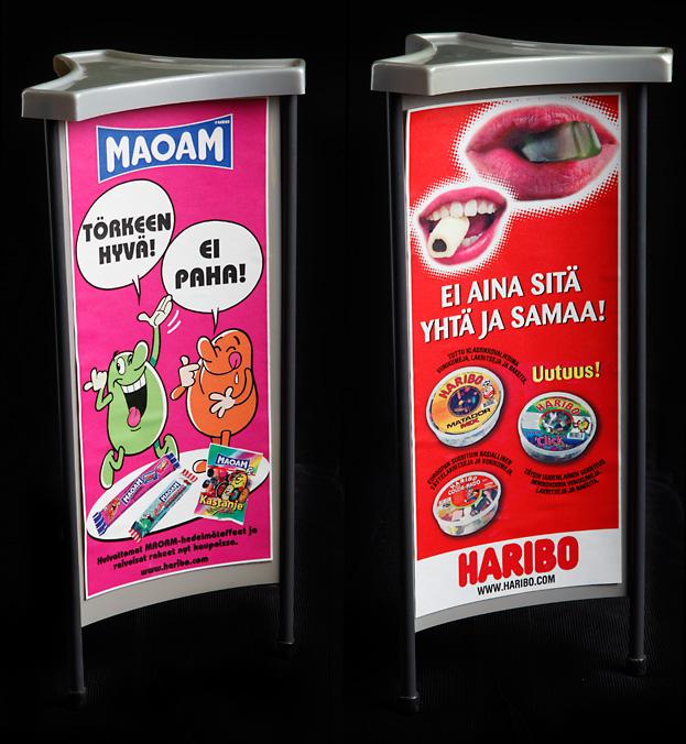 Haribo mainospylväät